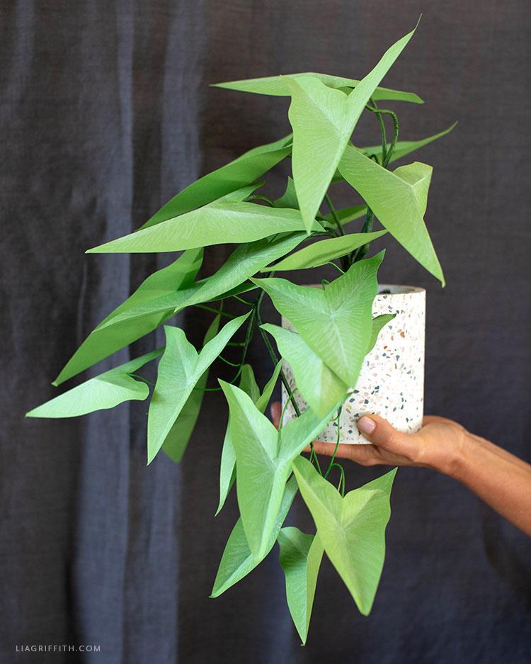 DIY paper arrowhead vine