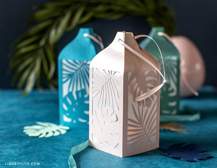 handmade tropical paper lanterns