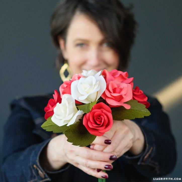 crepe paper rosebuds