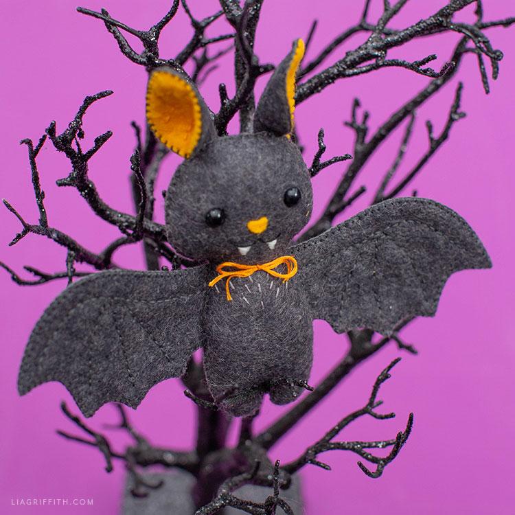 felt baby bat stuffie for Halloween