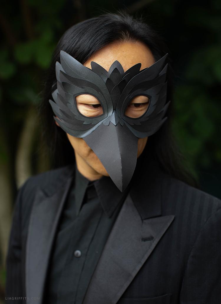 paper raven mask