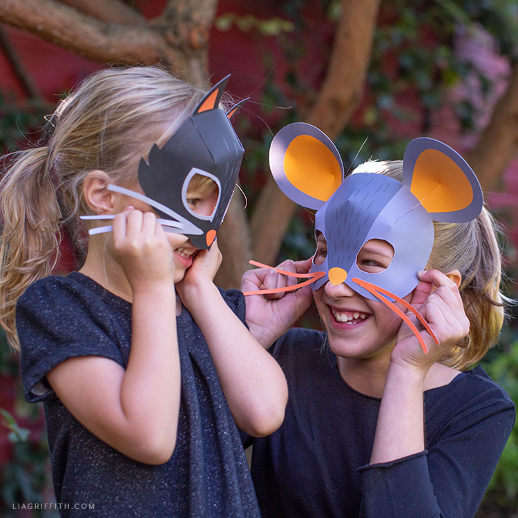 DIY cat and mouse masks