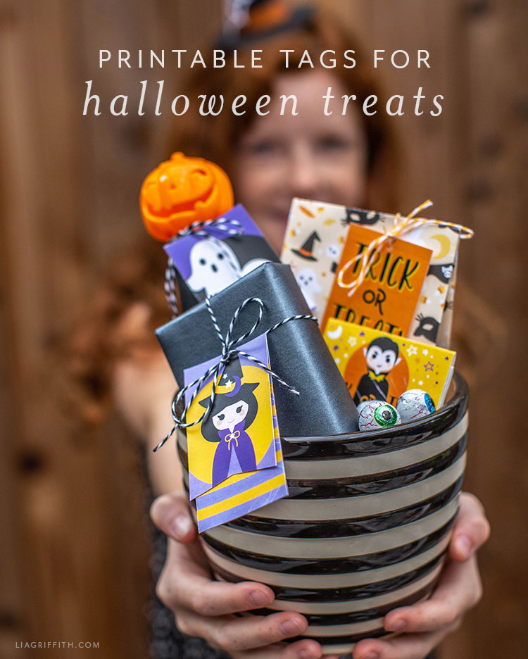 photo relating to Printable Cardstock Tags referred to as Printable Tags for Halloween Snacks Items - Lia Griffith