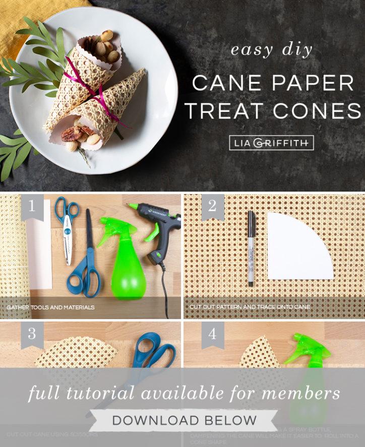 Photo tutorial for cornucopia treat cones by Lia Griffith