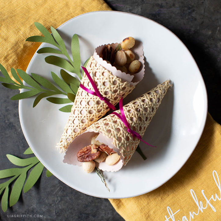 small cornucopia treat cones