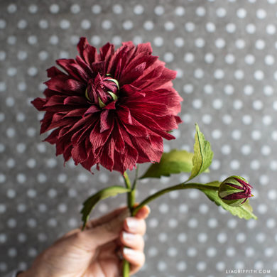 October Member Make: Crepe Paper Rip City Dahlias