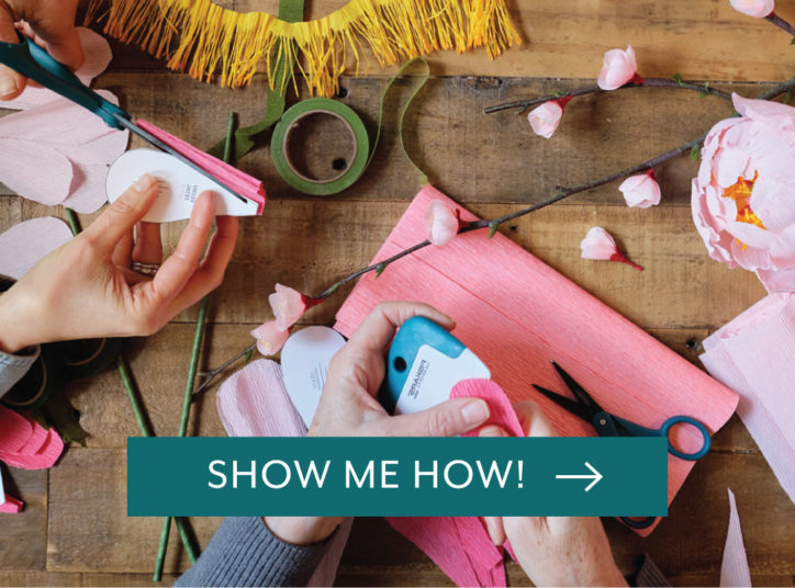 Show me how to get started with Crepe Paper Flowers!