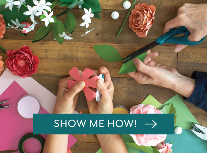 Show me how to get started with Frosted Paper Flowers!