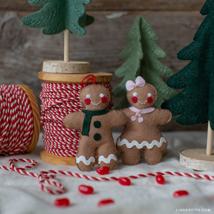 felt gingerbread man and woman