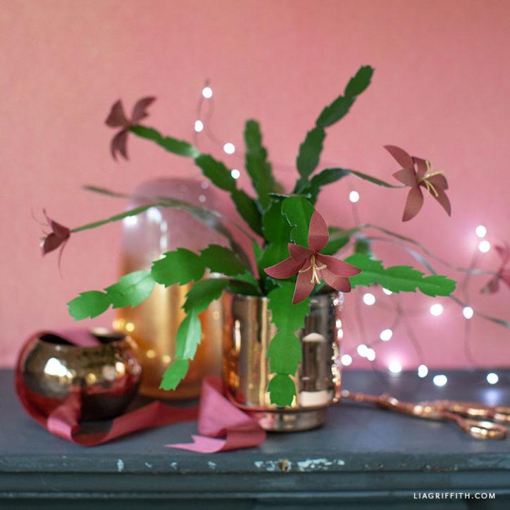 papercut holiday cactus