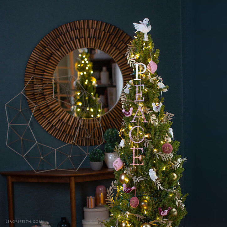 DIY peace dove Christmas tree