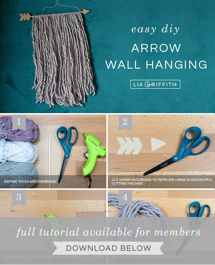 Photo tutorial for arrow wall hanging by Lia Griffith