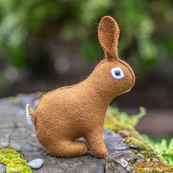 cute felt rabbit stuffie