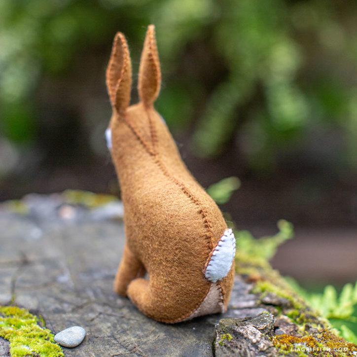 hand-stitched felt rabbit stuffie