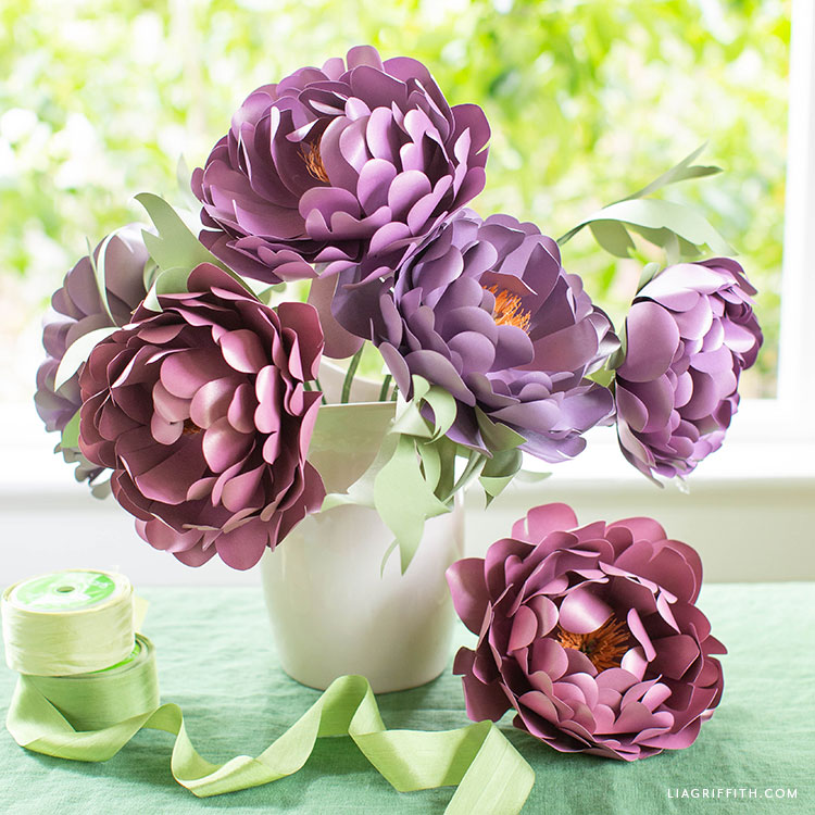 frosted paper peonies