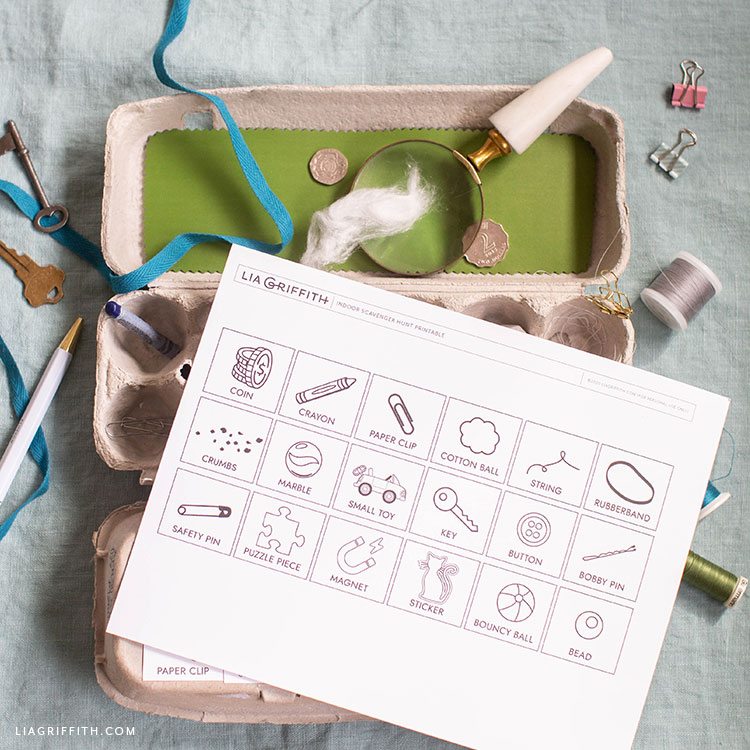 printable indoor scavenger hunt for kids