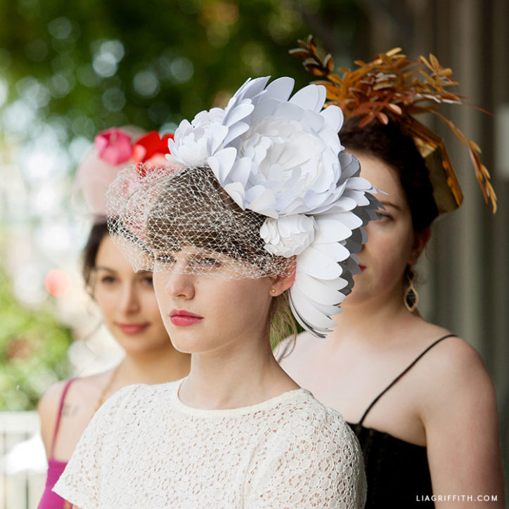 paper flower Kentucky derby fascinators