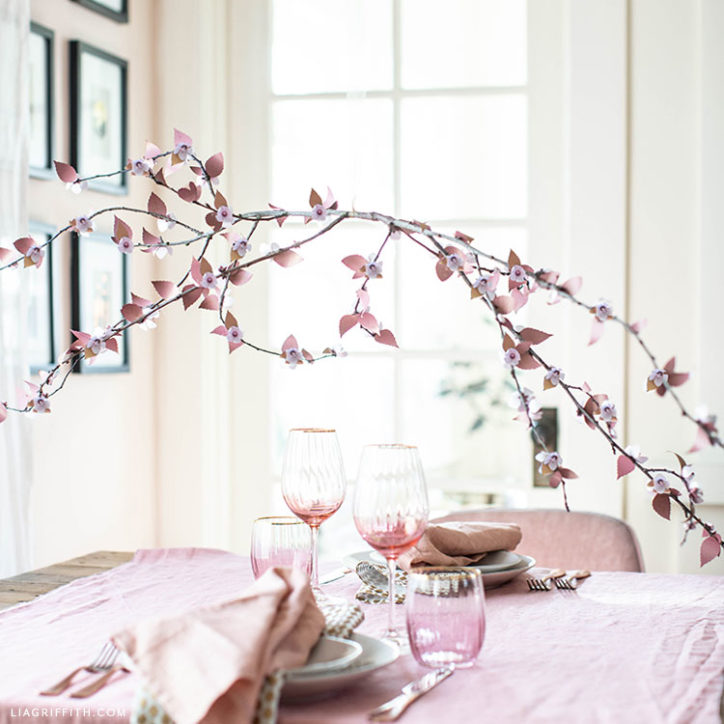 handmade frosted paper plum blossom branch