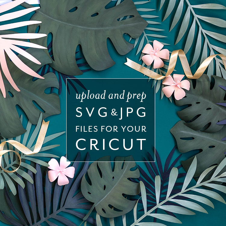 Upload and Prep SVG & JPG Files for Your Cricut