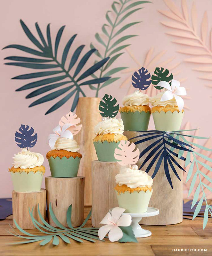 tropical cupcake decorations