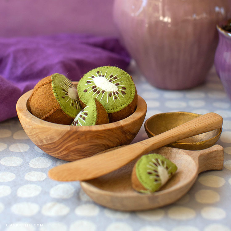 Handmade felt kiwi