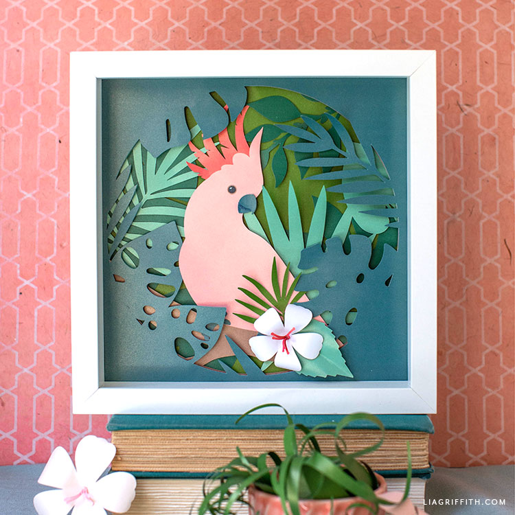papercut cockatoo tropical art