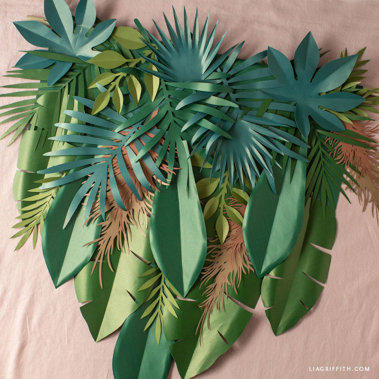 handmade tropical banner