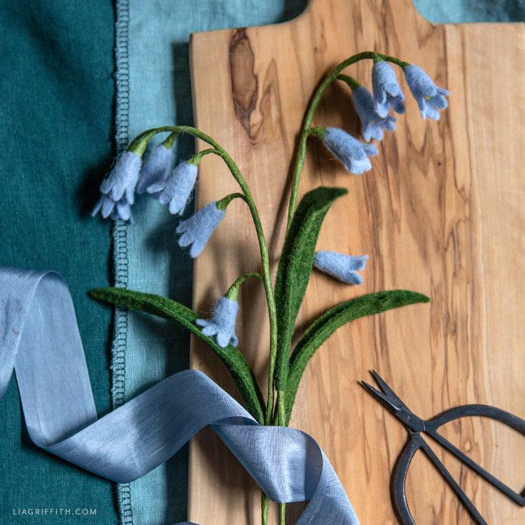 DIY felt bluebells