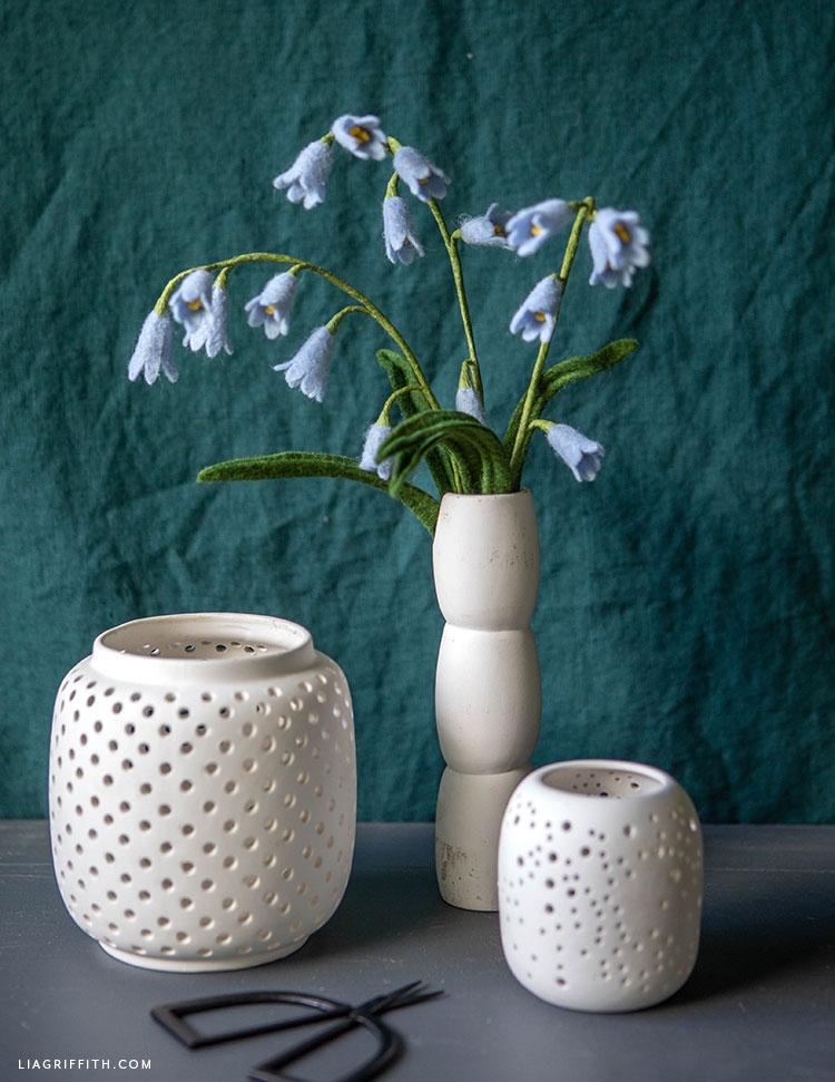 DIY felt bluebell flowers