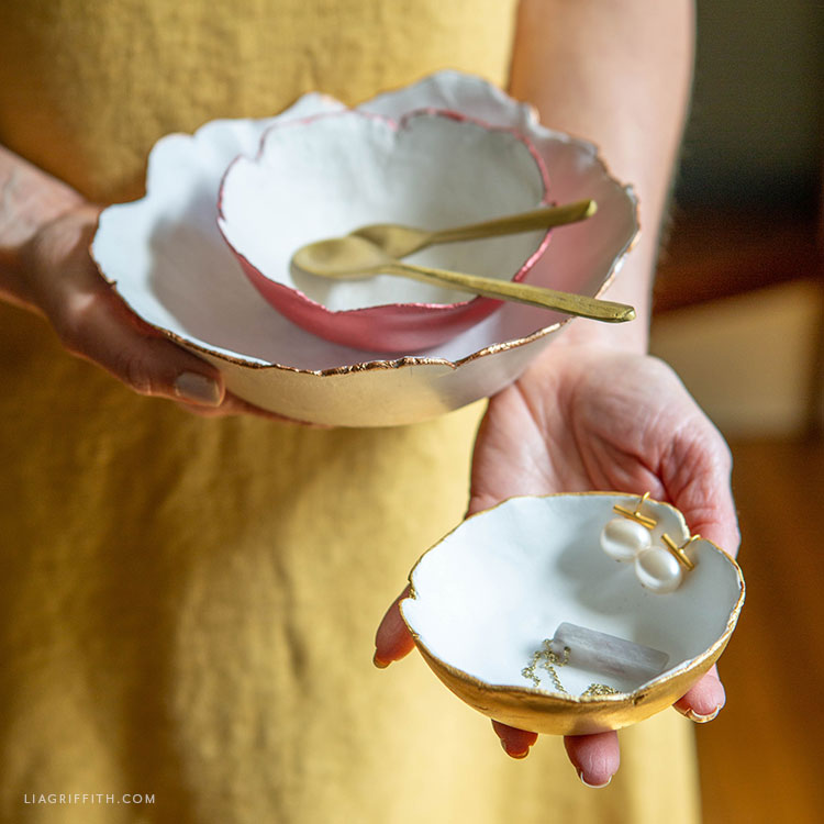 handmade decorative clay bowls