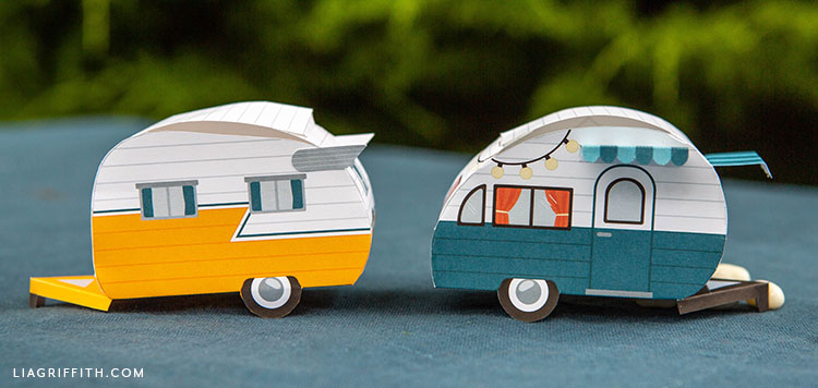 DIY paper campers