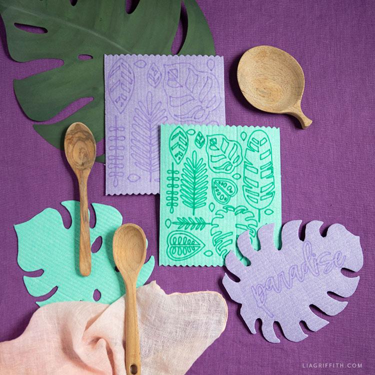 DIY tropical Swedish dishcloths