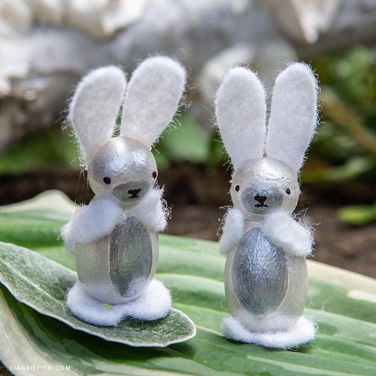 DIY bunny peg doll
