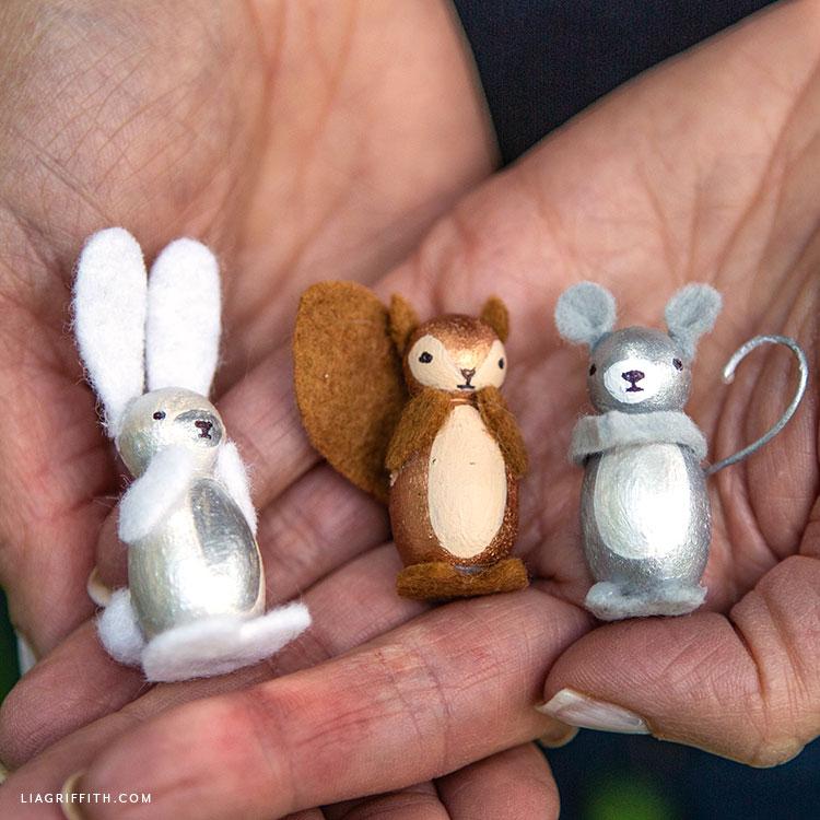Handmade animal peg dolls
