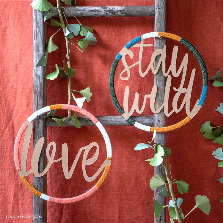 DIY word wall decor