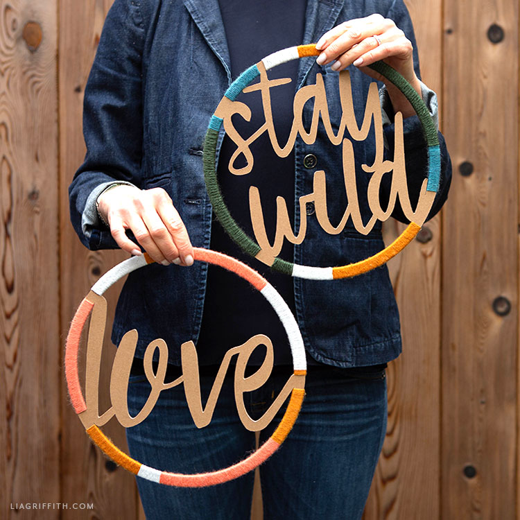 """Stay Wild"" and ""Love"" Word Wall Decor"