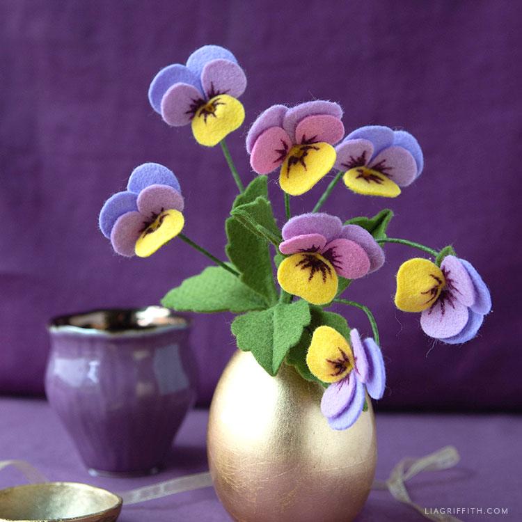 felt viola celestial twilight bouquet
