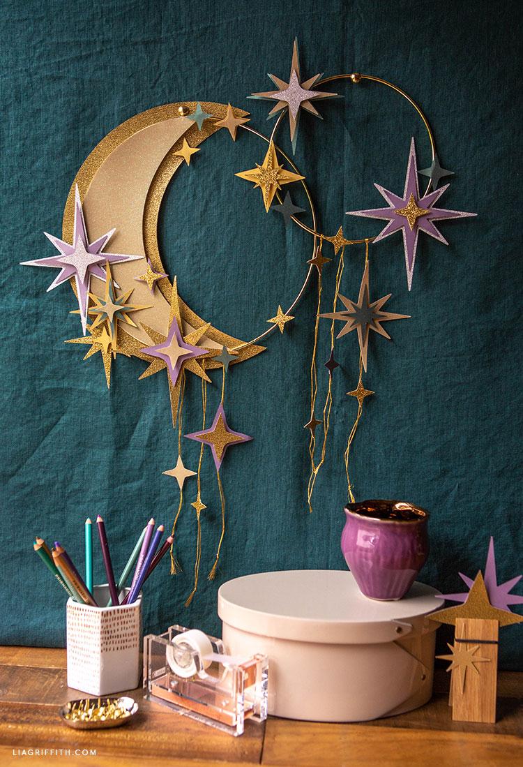 DIY celestial wreaths
