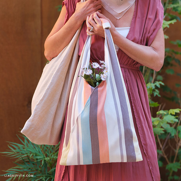 handmade farmer's market tote bags