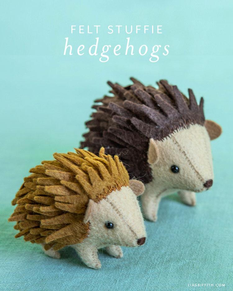 felt hedhehog stuffies