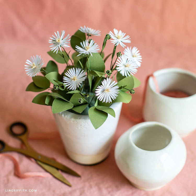 frosted paper asters