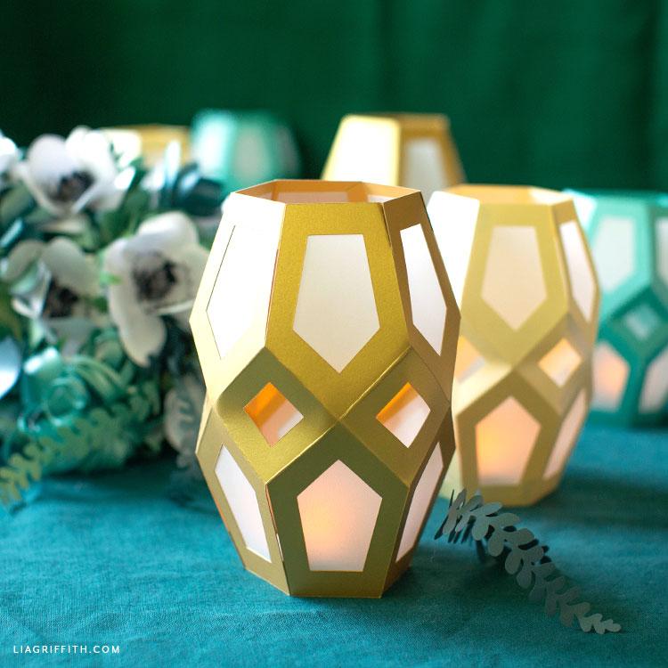 paper geometric lanterns