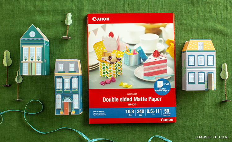 Paper houses made with Canon double sided matte paper