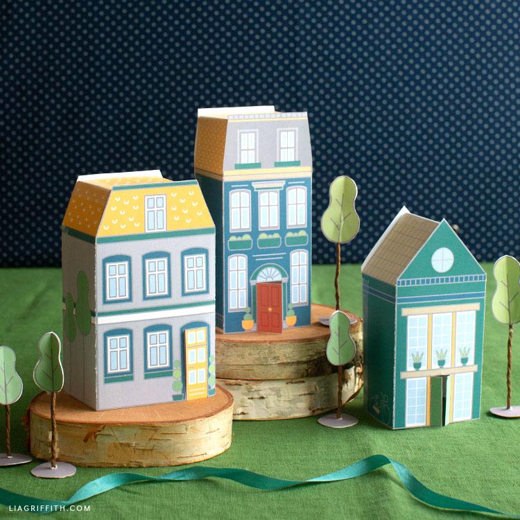 kid's paper village