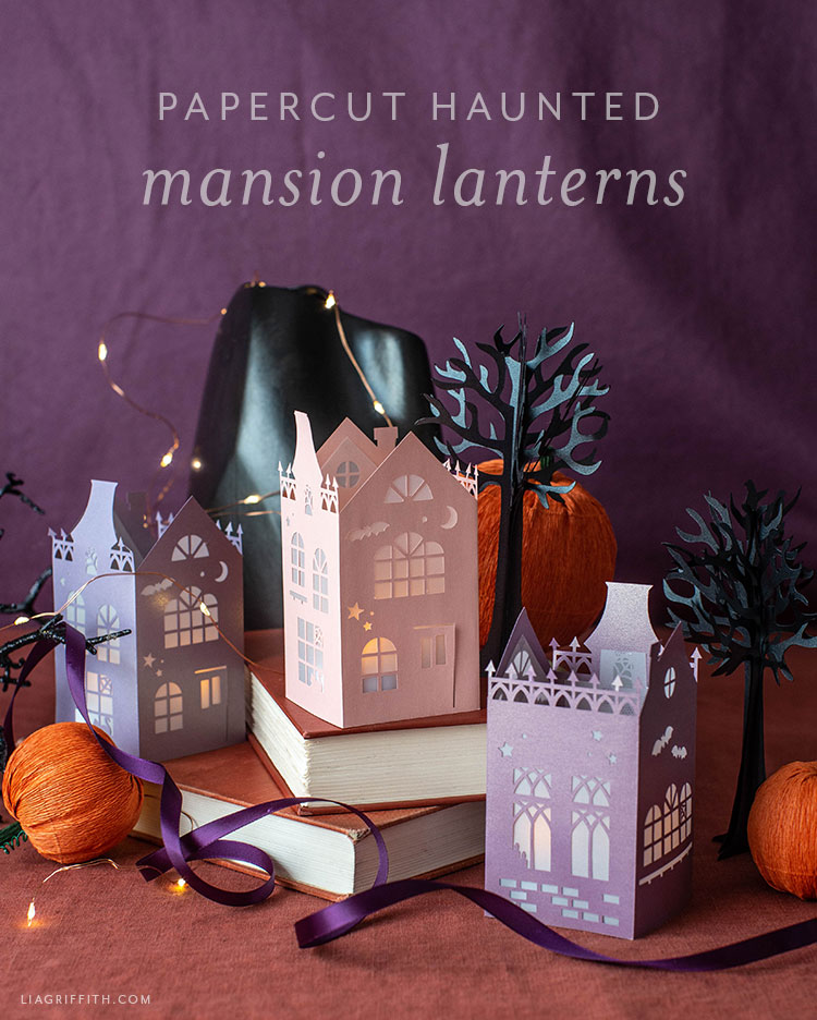 papercut haunted mansion lanterns