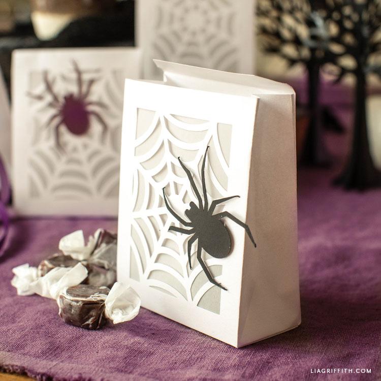 papercut spiderweb treat bags