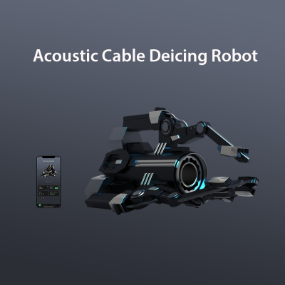 Acoustic Cable Deicing Robot