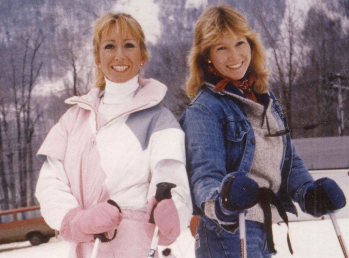 Berta on a ski trip in Vermont with our sister Eileen in 1988