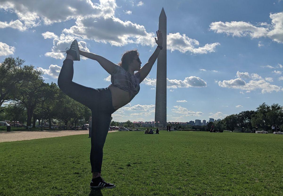Colette doing Yoga