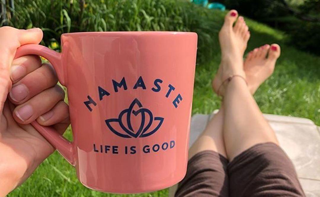 namaste life is good mug
